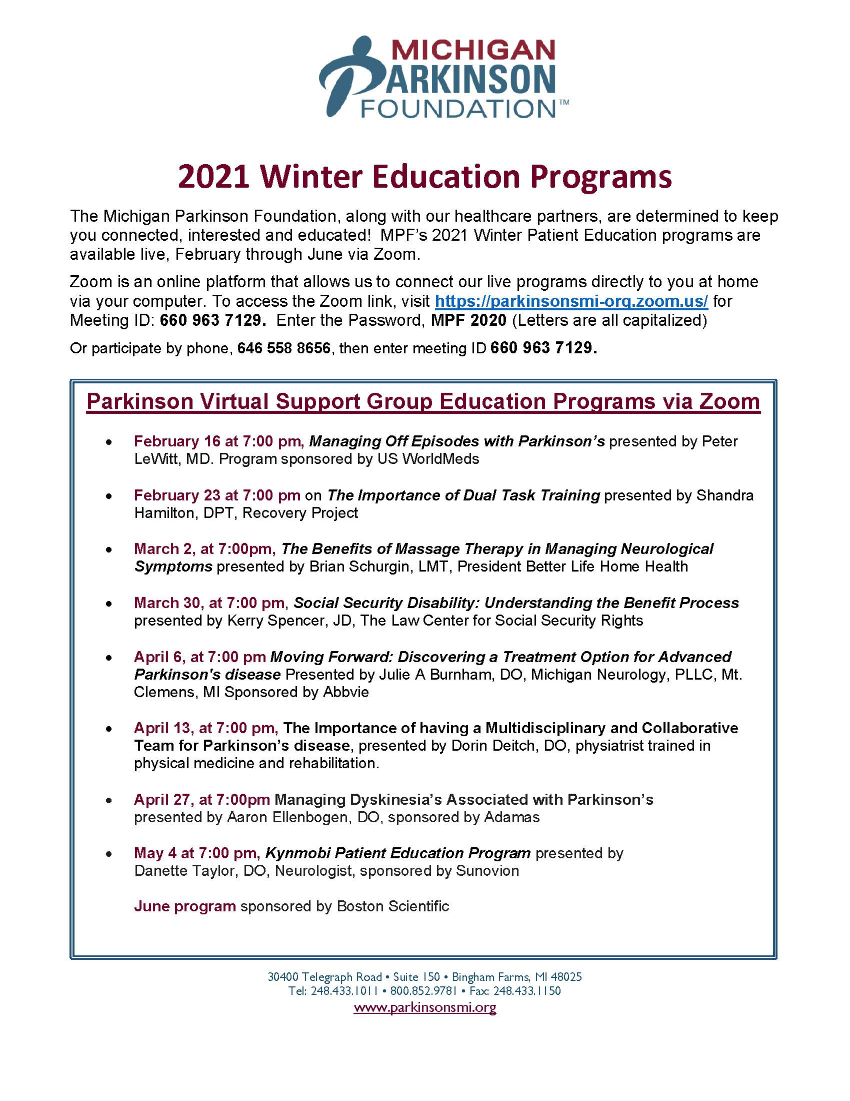 PD Education Programs Updated through June 2021 revised 02 09 21.asd.pdf